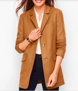 Brushed Italian wool long women's blazers