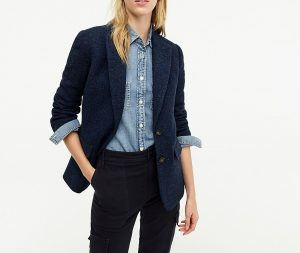Navy casual fit blazers for women from JCrew