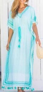 Cabana Life Coral Tides Tassel Maxi Dress