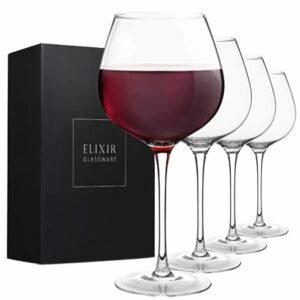 Elixir red wine glasses