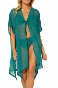 Everything But Water Tie-Front Kimono