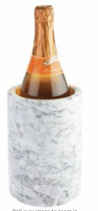 mDesign Natural Marble Stone Wine Bottle Cooler Chiller