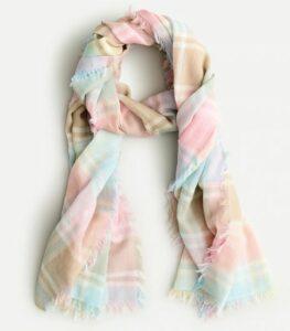 JCREW Lightweight fringe-trim scarf