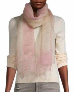 Saachi Border Silk-Blend Scarf