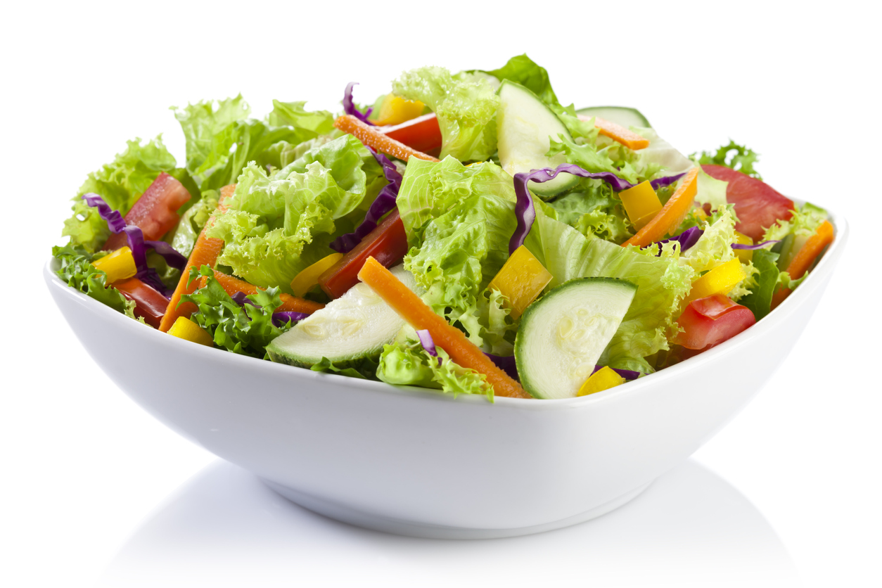Salad loaded with fresh vegetables