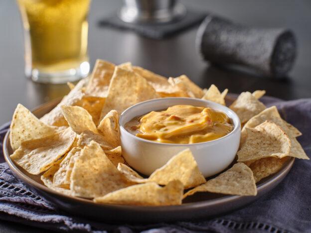 Chili con queso with chips recipe