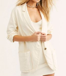 Non-structured Women's Blazer in linen