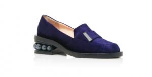 Nicholas Kirkwood - Casati Embellished Velvet Loafers