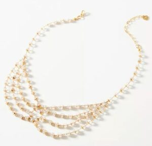 Anthropologie Delicate Beaded Collar Necklace