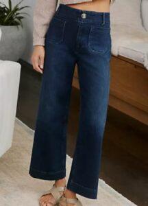 Anthropologie Pilcro Ultra High-Rise Wide-Leg Jeans
