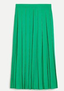 JCREW Wide-pleat midi skirt
