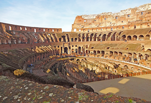 Off-season travel to the Colosseum in Rome, Italy