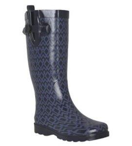 Capelli New York Ladies Shiny Umbrella Printed Rain Boot