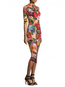 Delora Mockneck Dress