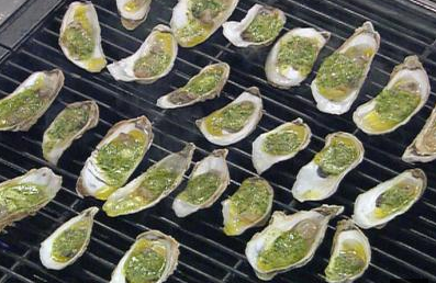 Grilled Oysters per Emeril