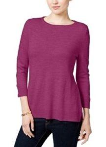Karen Scott Sweater Raspberry Large