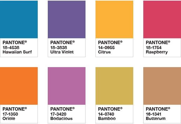 Pantone Color Chart 2018