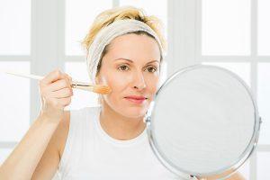 makeup regimen