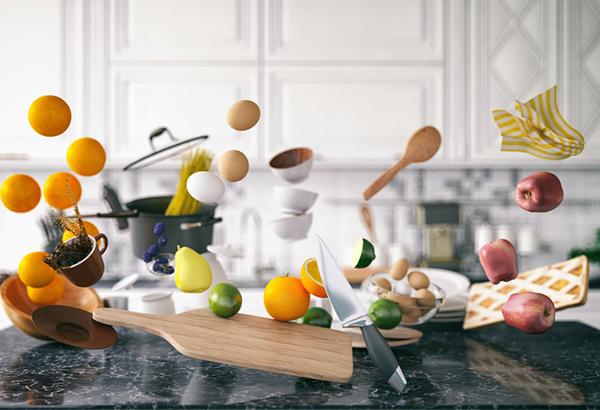 stocked kitchen