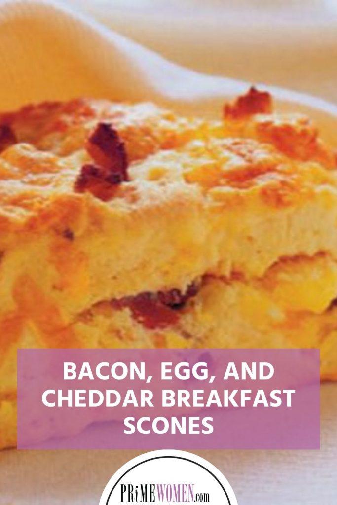 BACON, EGG, AND CHEDDAR BREAKFAST SCONES recipe