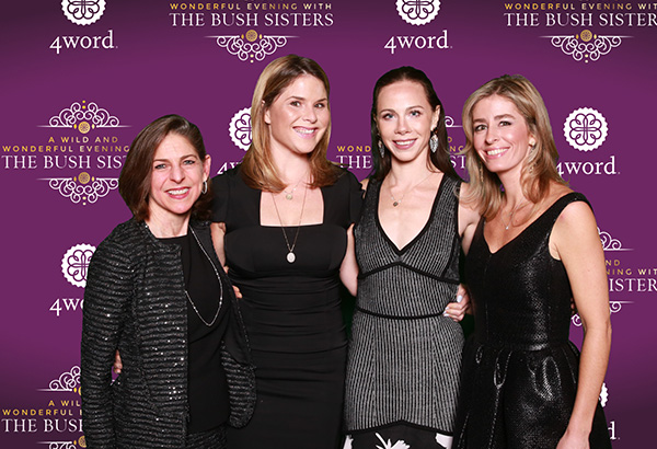 Diane Paddison Charity Wallace with Bush Sisters