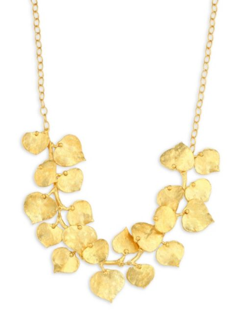 Kenneth Jay Lane Branch and Leaf Necklace