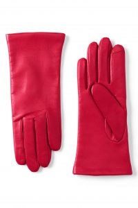 Lands' End Women's Cashmere Lined Leather Gloves