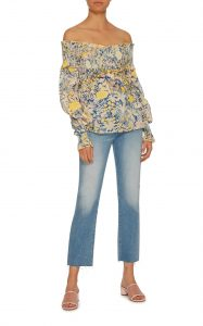Love Shakin Off-The-Shoulder Floral Ruffle Top