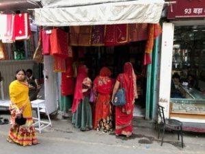 Sight, saris - trip to India