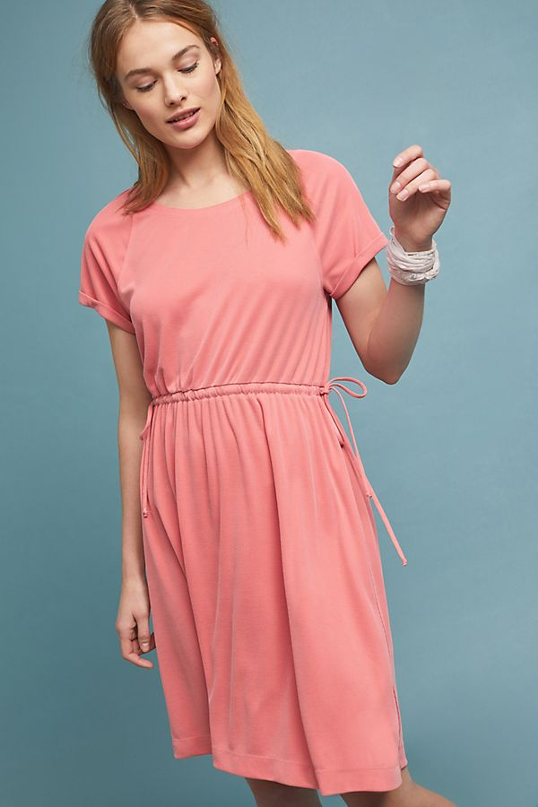 Anthropologie Waisted Cupro Dress