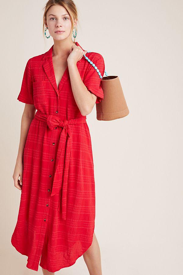 Arno Textured Shirtdress