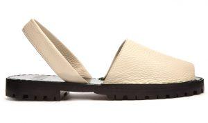 Goya Pebbled-Leather Slingback Sandals