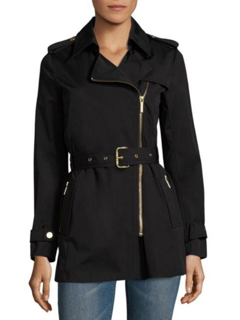 Michael Kors Assymetrical Zip Trench Coat