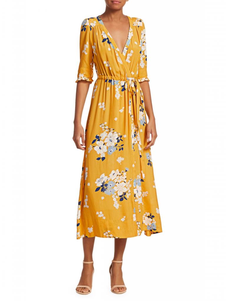 Sea Pia Floral Wrap Dress