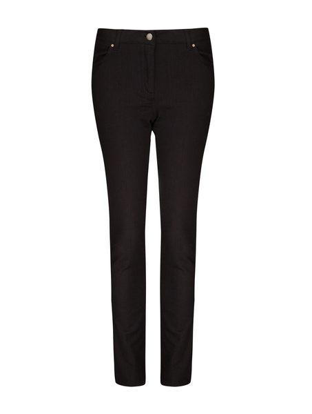 Short 5 Pocket Straight Length Jeans in Black