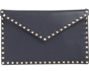 Valentino Garavani Large Rockstud Leather Pouch