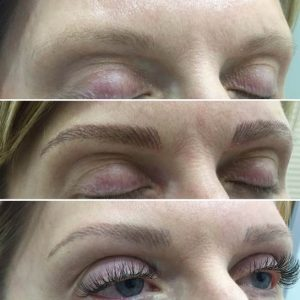 See the results of microblading thin eyebrows