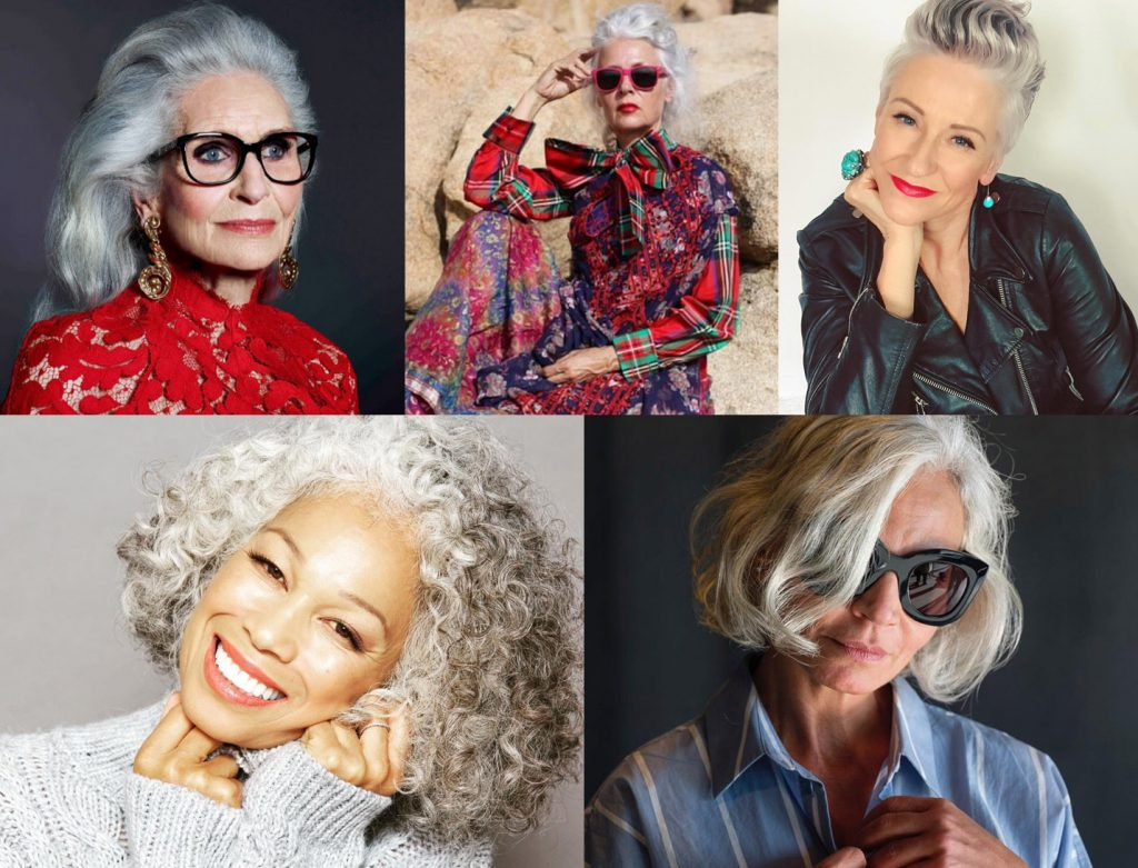 silver stunners gray haired women