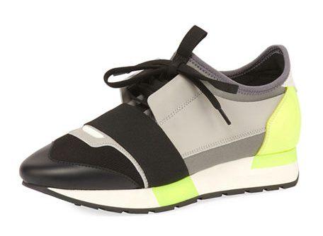 Balenciaga Colorblock Race Stretch-Sock Sneaker