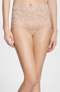 Commando 'Double Take' Lace Front High Rise Panties