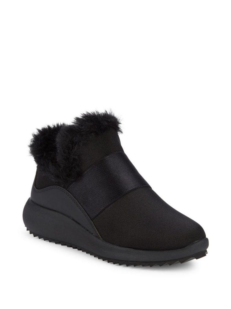 Donna Karan Fur Trimmed Sneakers