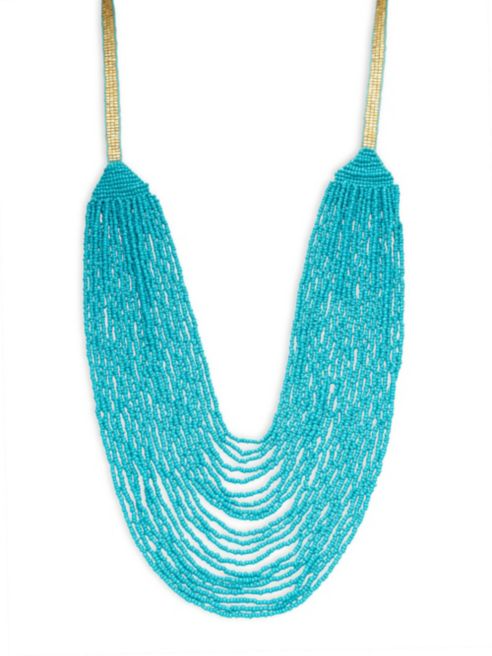 Design Lab Lord & Taylor Long Beaded Necklace