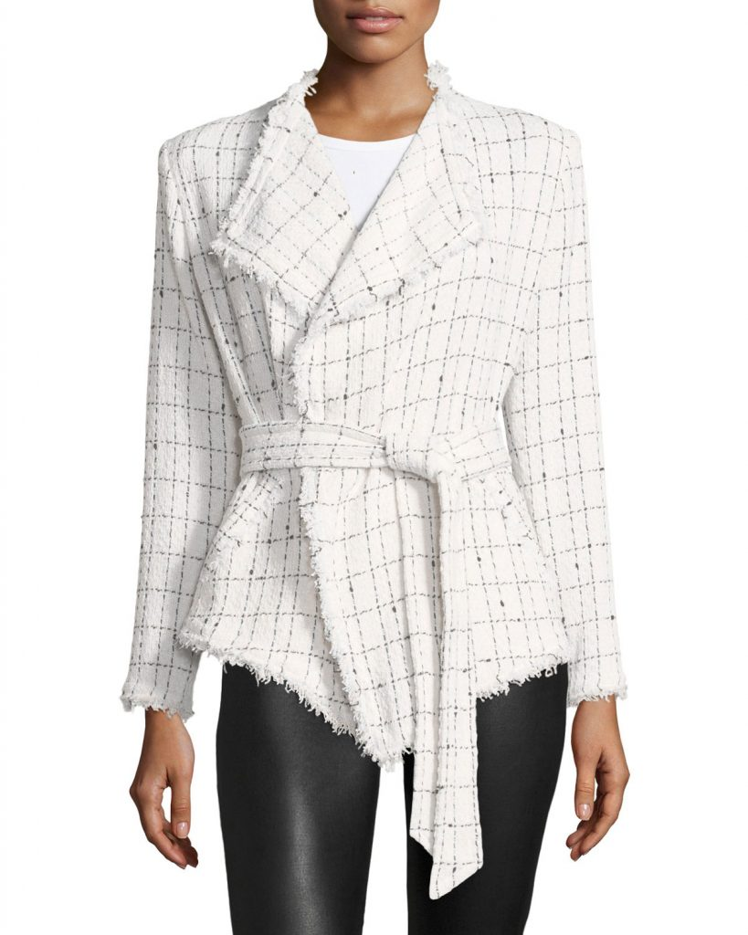 Iro Quinet Belted Tweed Jacket