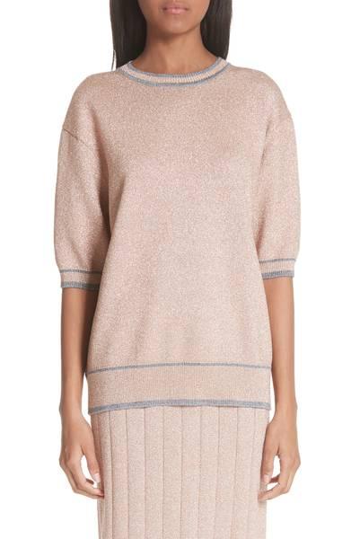 Marc Jacobs Rib Trim Metallic Sweater