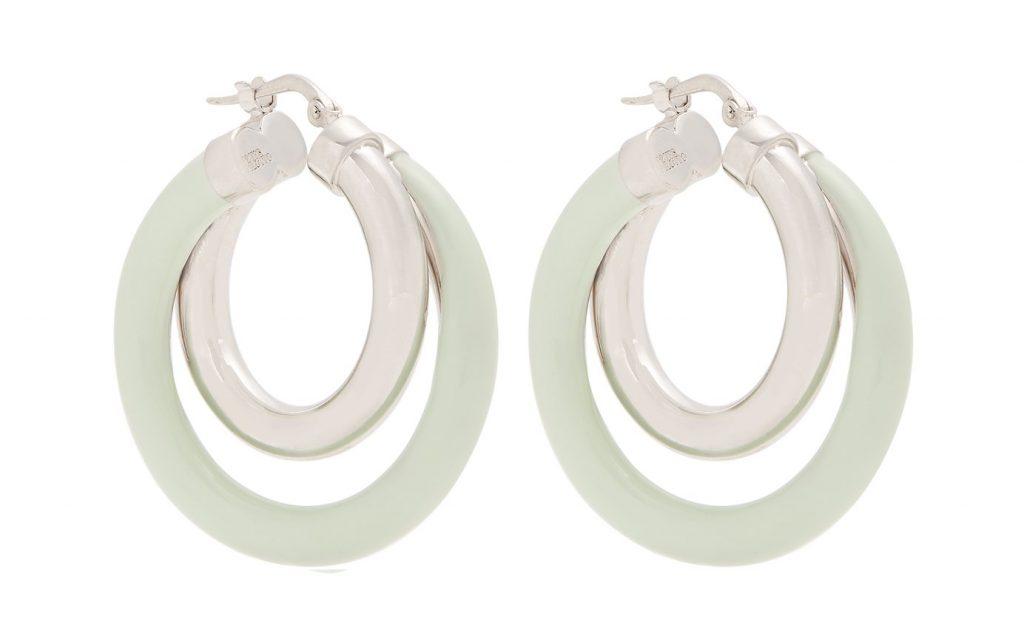 Peter Pilotto Medium Double-Hoop Earrings