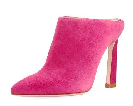 Stuart Weitzman Camila Pointed-Toe Slide Mule