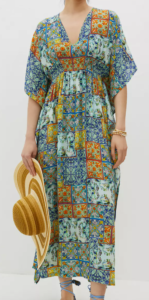 Anthropologie Mosaic Cinched Caftan