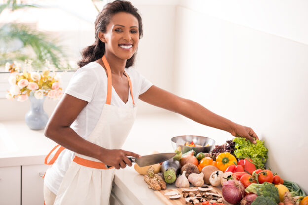 A woman cooking Healthy summer recipes