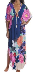 Trina Turk Opulent Oasis Floral Print Maxi Caftan