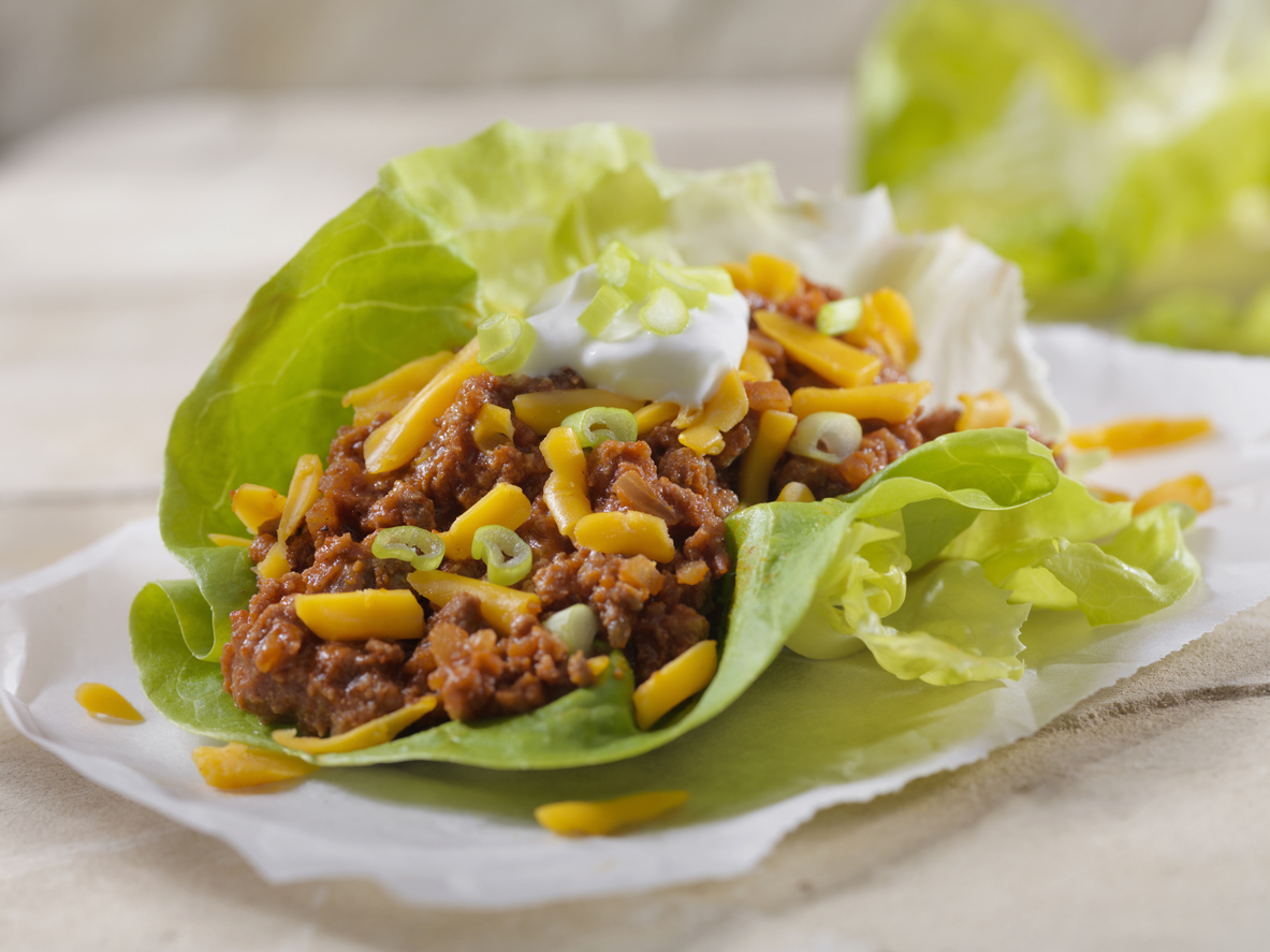 Lettuce wrap substitution for healthier tacos